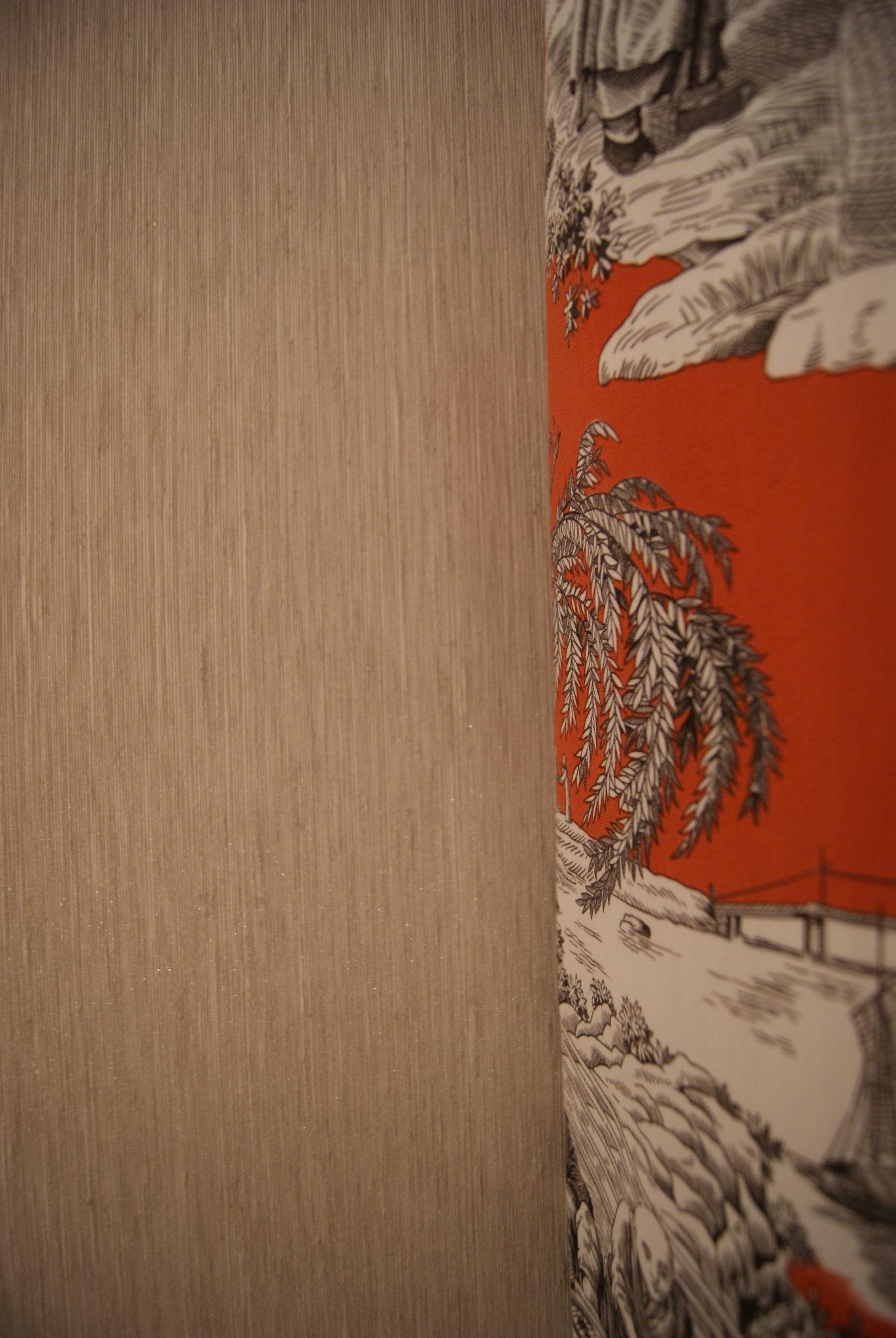Chambre grise - Toile de Jouy