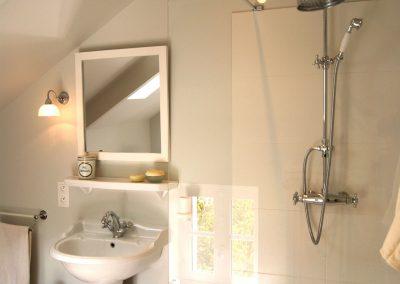 Petite salle de bains - Lavabo, douche