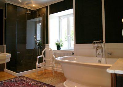 Salle de bains Black & White - Entrée