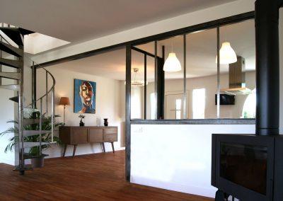 Hauts Jullouville - Cloisonnement de l'espace cuisine